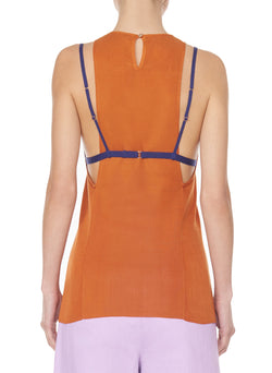 Claire Sweater Tank Rust-9