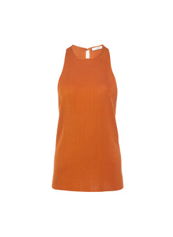 Claire Sweater Tank Rust-11