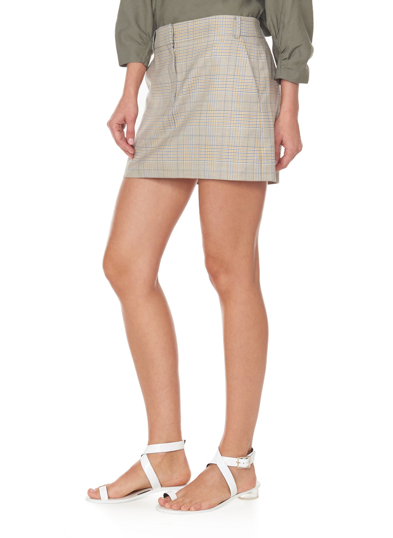 Cooper Menswear Mini Skirt Mustard Multi-7