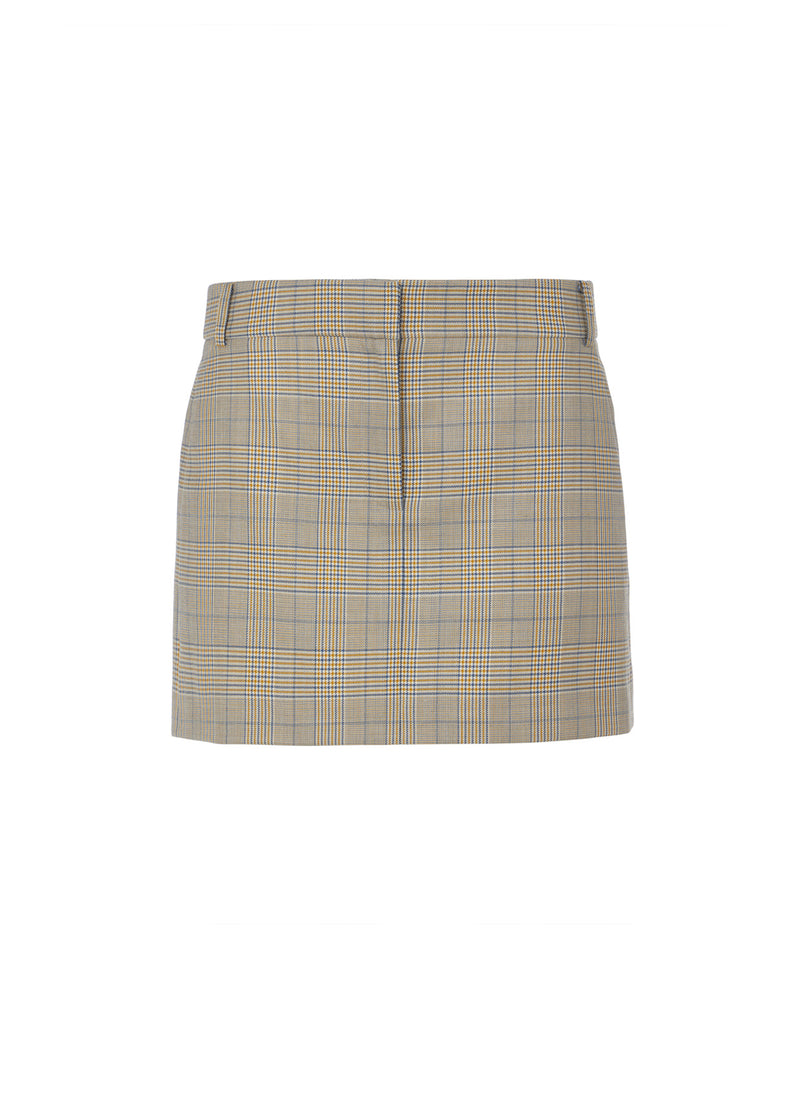 Cooper Menswear Mini Skirt Mustard Multi-8