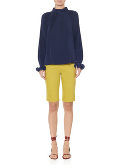 Garment Dyed Trish Short Mustard-5