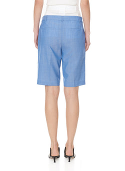 Serge Suiting Short Soft Blue-2