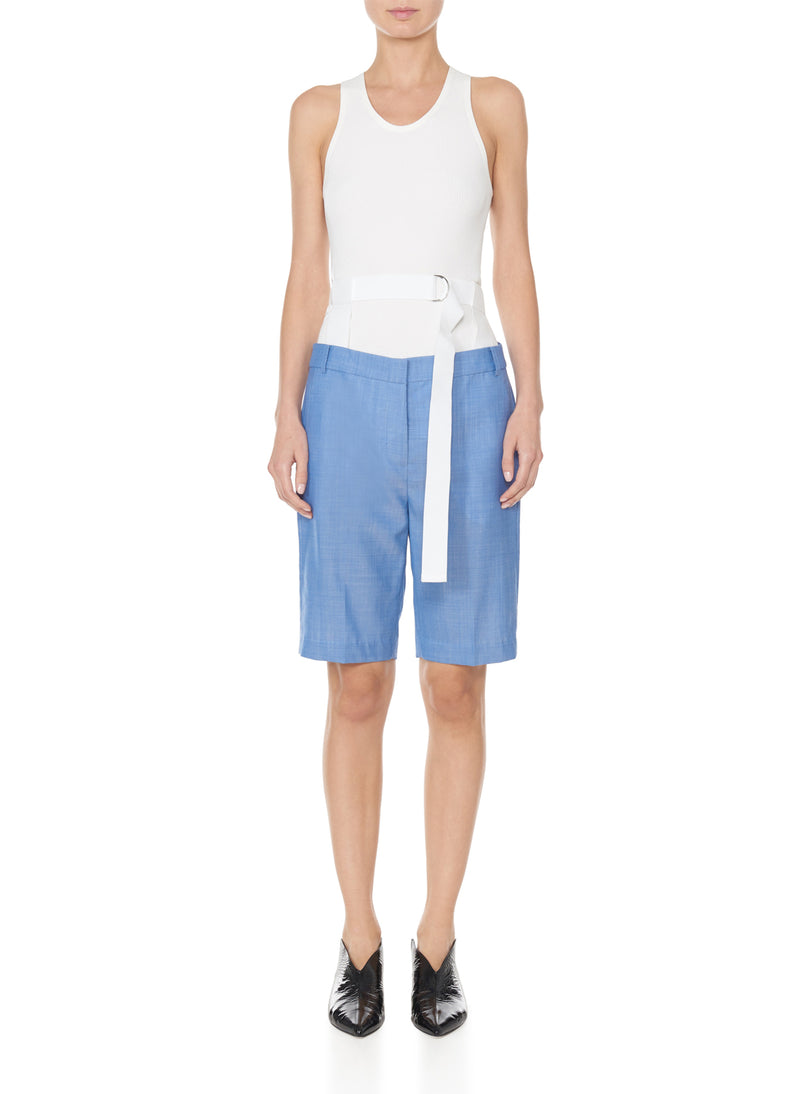 Serge Suiting Short Soft Blue-1