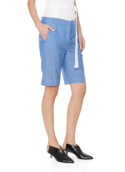 Serge Suiting Short Soft Blue-3