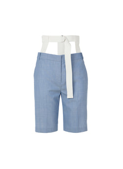 Serge Suiting Short Soft Blue-4