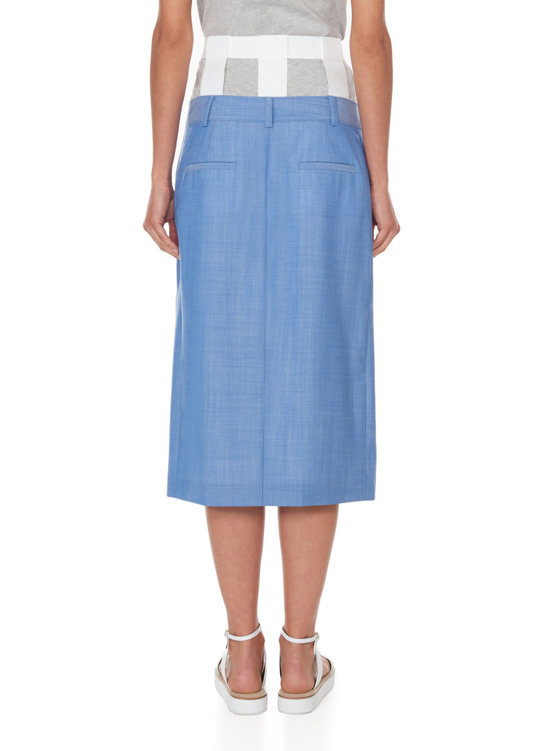 Serge Suiting Skirt Soft Blue-3