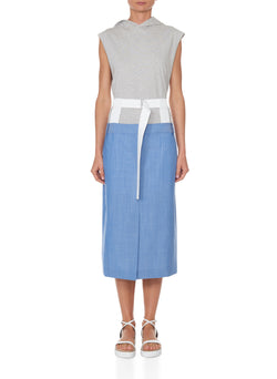 Serge Suiting Skirt Soft Blue-1
