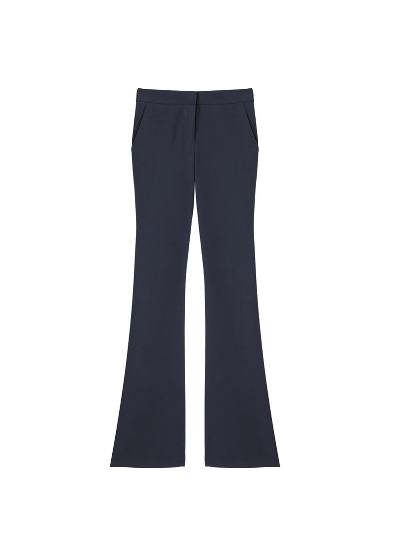 Anson Stretch Slim Bootcut Pants Prussian Blue-2