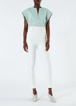 Anson Stretch Tailored Pants Ivory-1