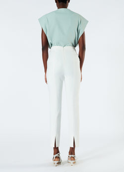Anson Stretch Tailored Pants Ivory-3