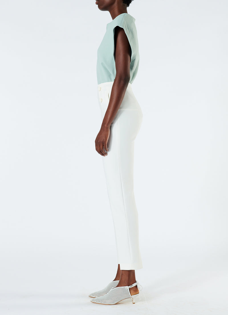 Anson Stretch Tailored Pants Ivory-6