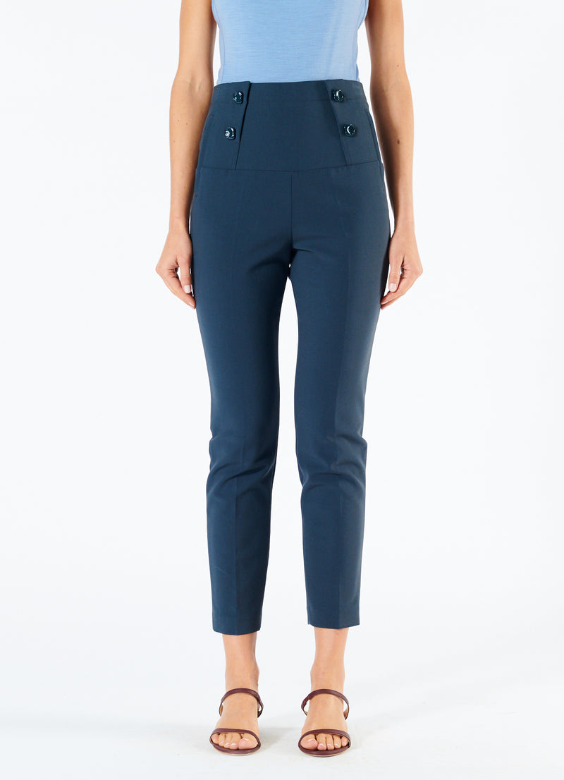 Anson Stretch Tailored Pants Prussian Blue-4