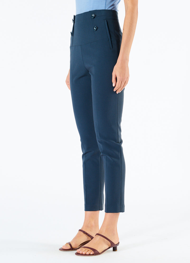 Anson Stretch Tailored Pants Prussian Blue-5