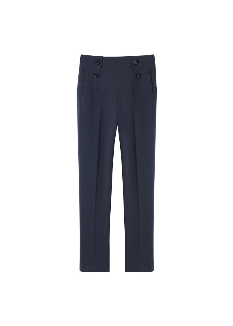 Anson Stretch Tailored Pants Prussian Blue-2