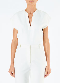 Chalky Drape Sleeveless Top Ivory-4