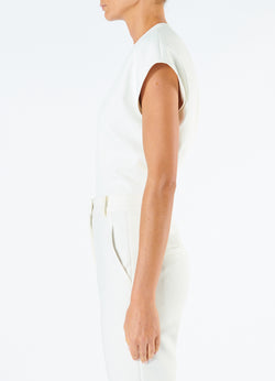Chalky Drape Sleeveless Top Ivory-6
