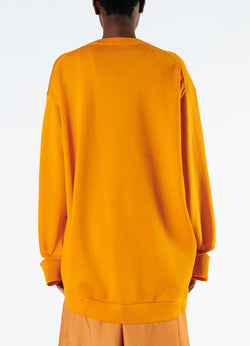 Corded Poly Oversized Tunic Sweater Marmalade-3