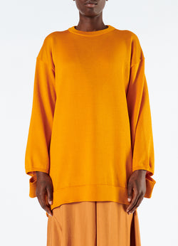 Corded Poly Oversized Tunic Sweater Marmalade-4