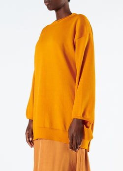 Corded Poly Oversized Tunic Sweater Marmalade-5