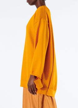 Corded Poly Oversized Tunic Sweater Marmalade-6
