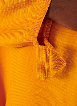 Corded Poly Oversized Tunic Sweater Marmalade-7
