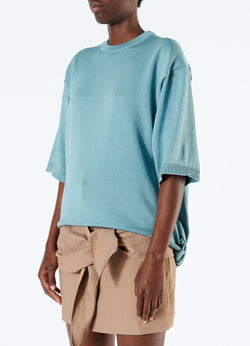 Corded Poly T-Shirt Ash Mint-5