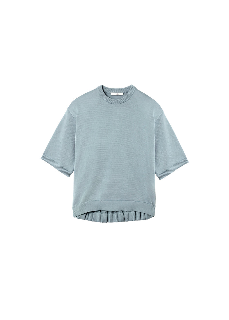 Corded Poly T-Shirt Ash Mint-2