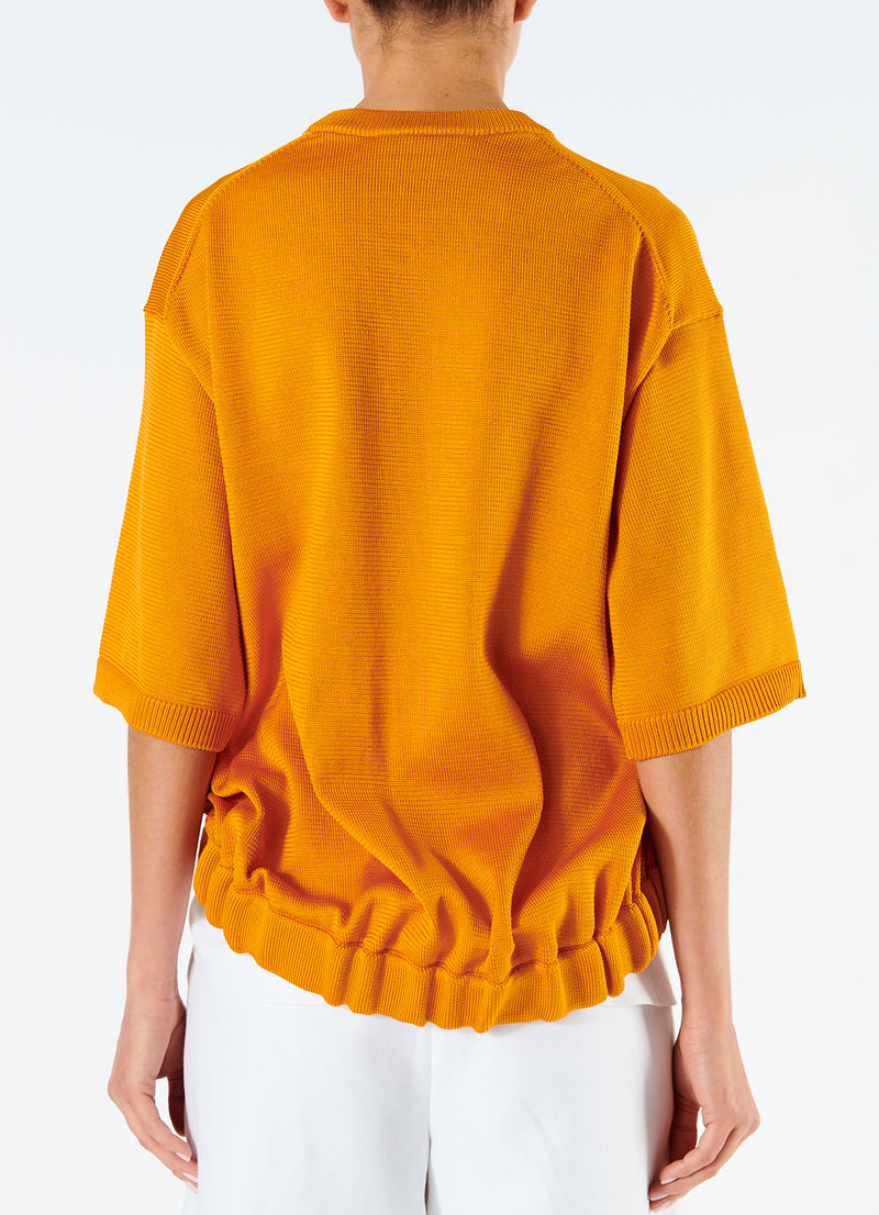 Corded Poly T-Shirt Marmalade-3