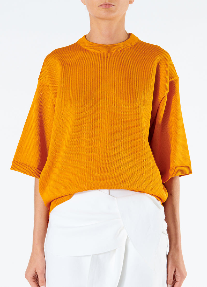 Corded Poly T-Shirt Marmalade-4