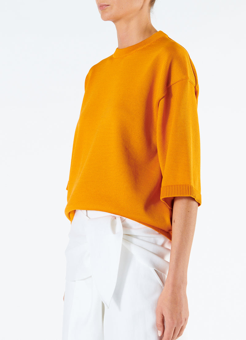 Corded Poly T-Shirt Marmalade-5