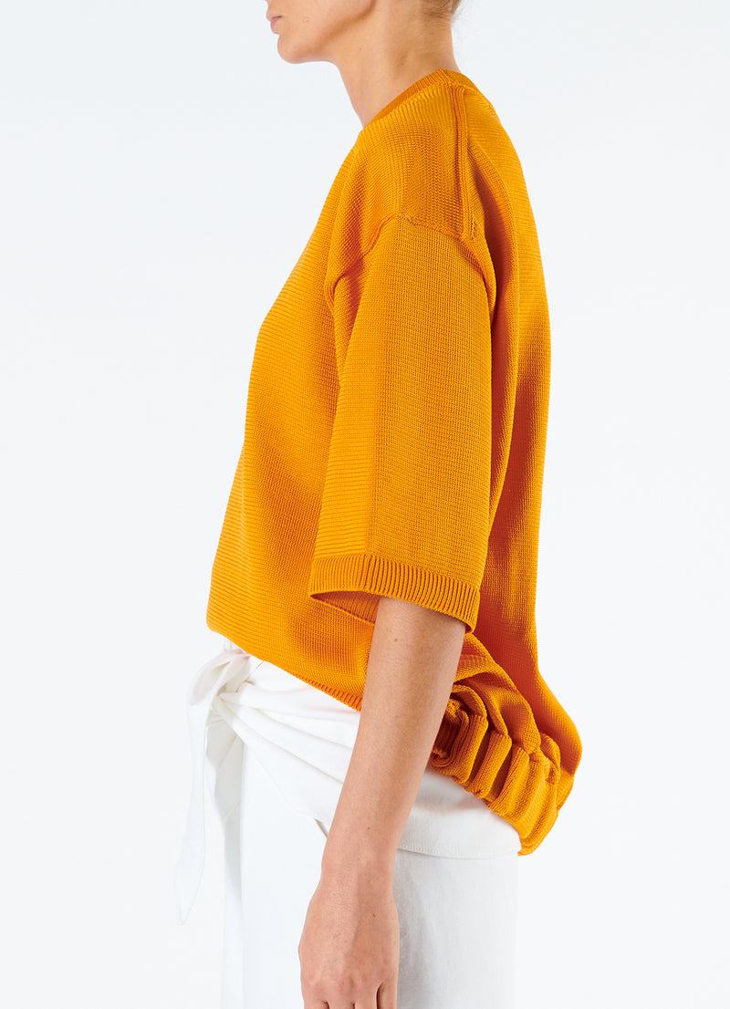 Corded Poly T-Shirt Marmalade-6