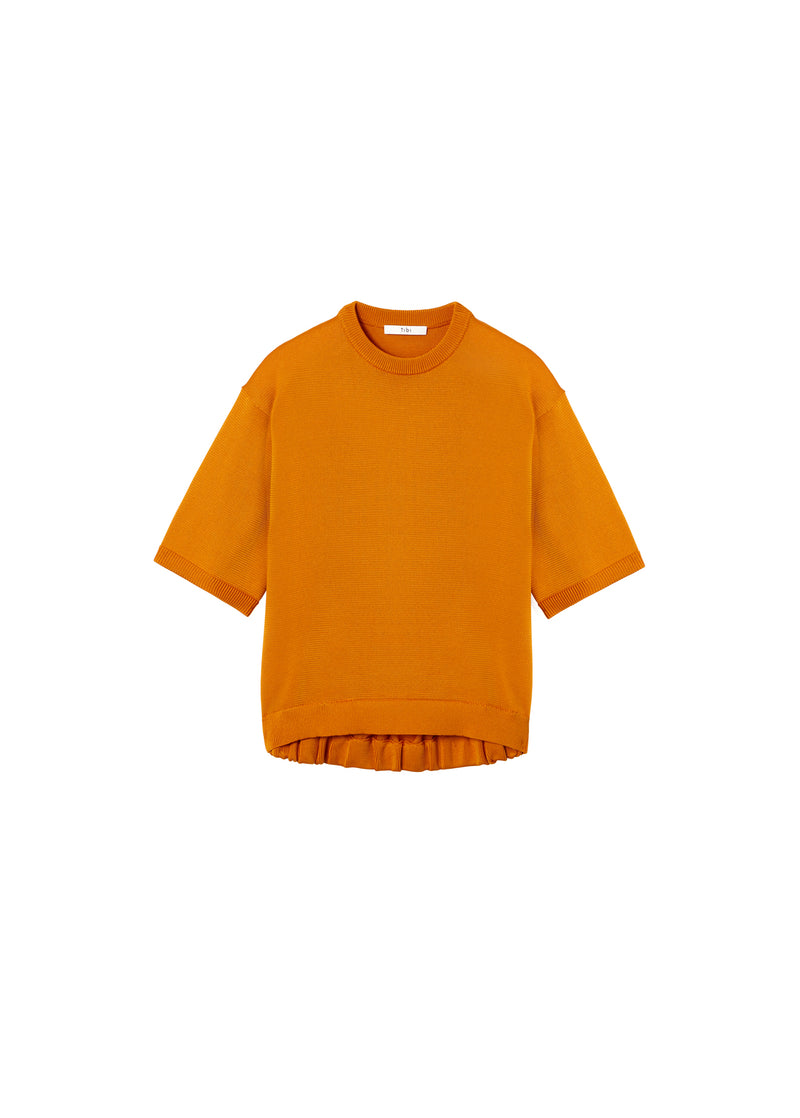 Corded Poly T-Shirt Marmalade-2