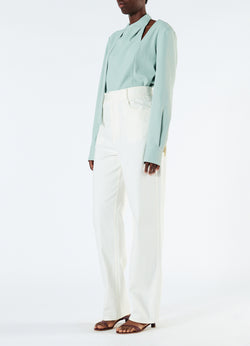 Spring Garment Dyed Denim Carpenter Jean White-5