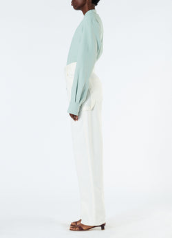 Spring Garment Dyed Denim Carpenter Jean White-6