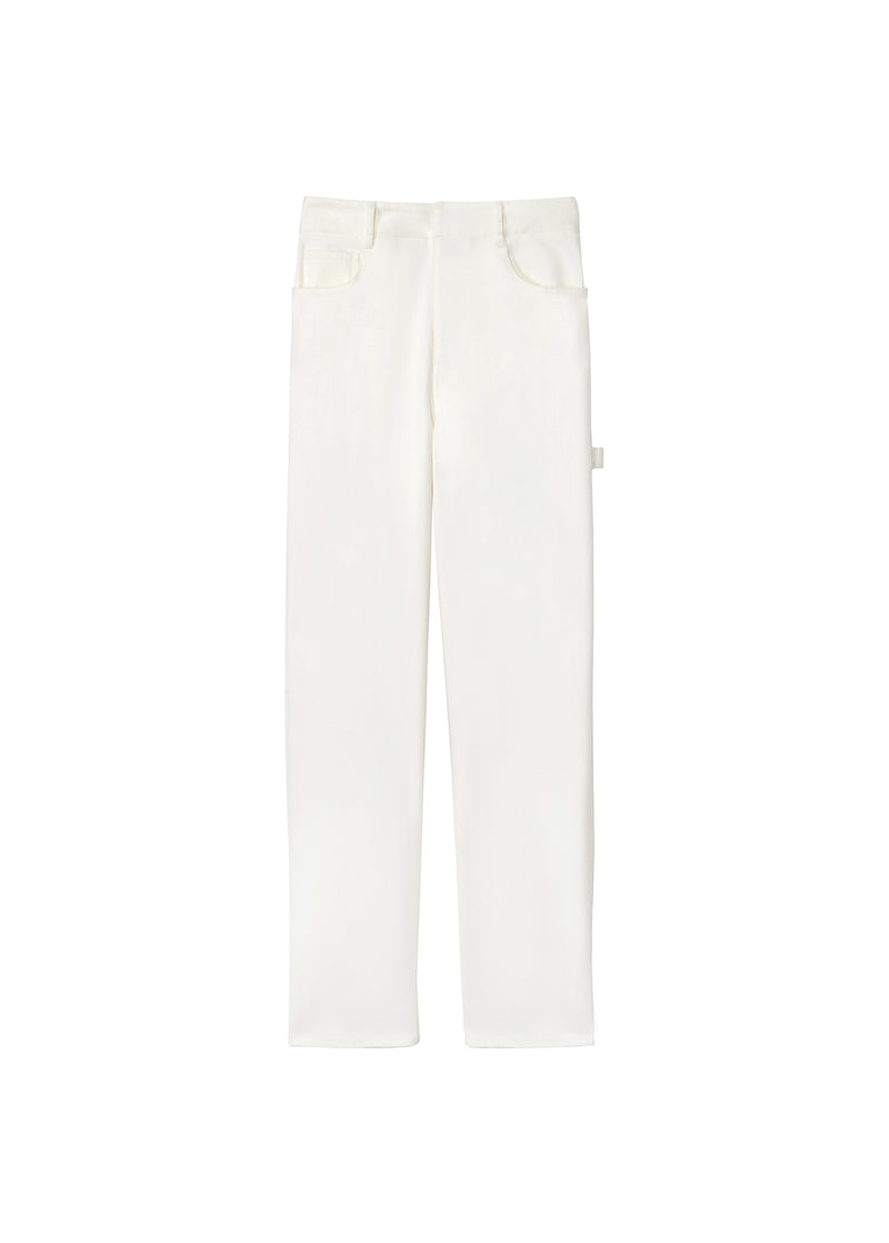 Spring Garment Dyed Denim Carpenter Jean White-9