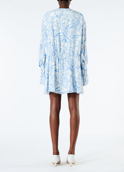 Poly Cdc Isa Toile Short Shirtdress White/Blue Multi-3