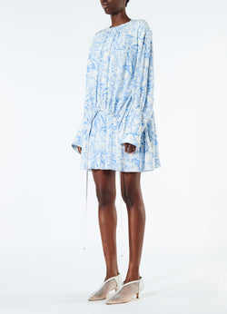 Poly Cdc Isa Toile Short Shirtdress White/Blue Multi-5