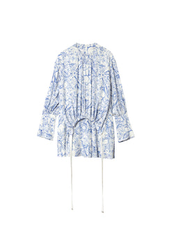 Poly Cdc Isa Toile Short Shirtdress White/Blue Multi-2
