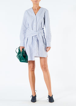 Liam Stripe V-Neck Shirtdress Blue Multi-1