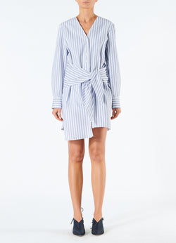 Liam Stripe V-Neck Shirtdress Blue Multi-4