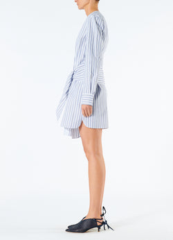 Liam Stripe V-Neck Shirtdress Blue Multi-5