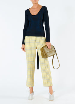 Marvel Plaid Taylor Pant Yellow Multi-1
