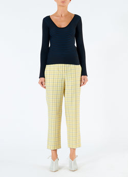 Marvel Plaid Taylor Pant Yellow Multi-4