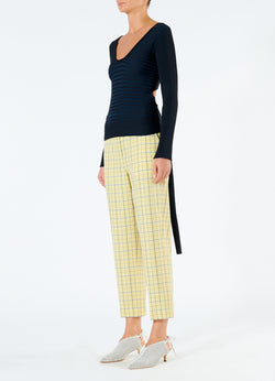 Marvel Plaid Taylor Pant Yellow Multi-5