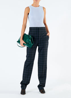 Marvel Plaid High Waisted Sebastian Pant Black Multi-1