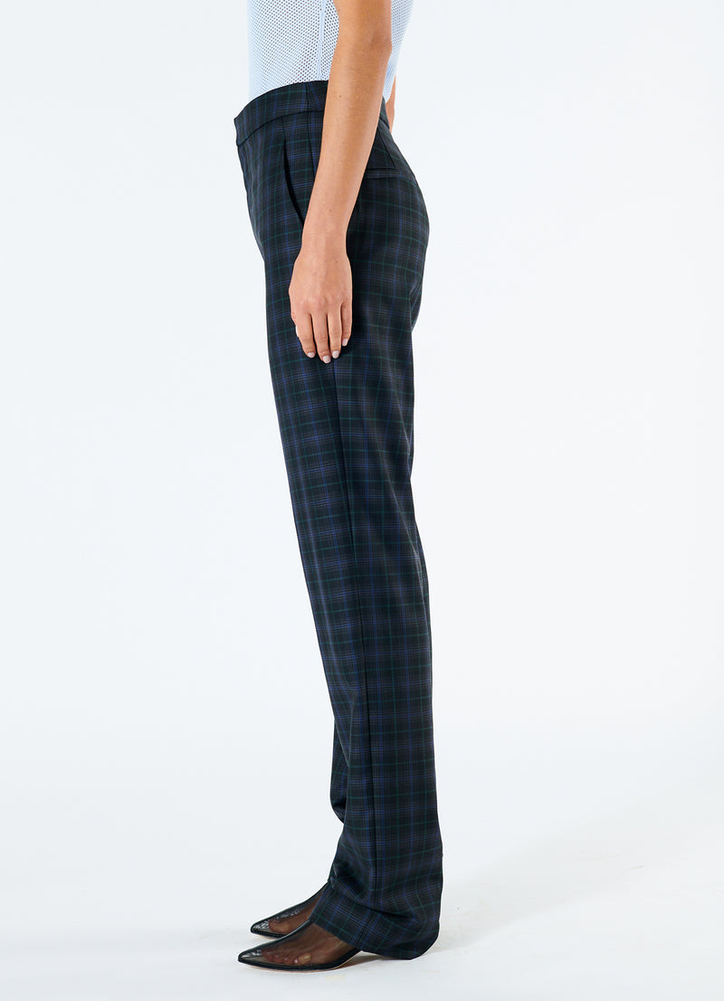 Marvel Plaid High Waisted Sebastian Pant Black Multi-5