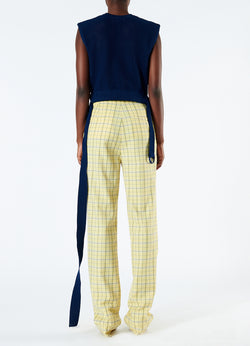 Marvel Plaid High Waisted Sebastian Pant Yellow Multi-3