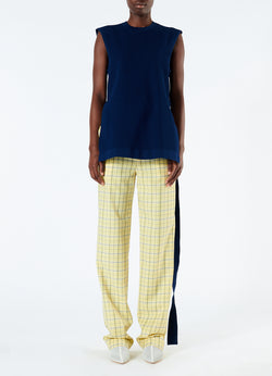 Marvel Plaid High Waisted Sebastian Pant Yellow Multi-4