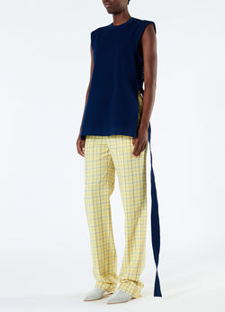 Marvel Plaid High Waisted Sebastian Pant Yellow Multi-5