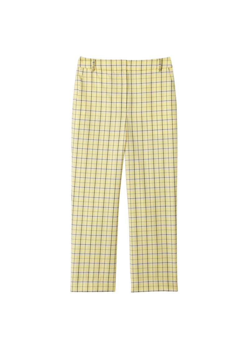 Marvel Plaid High Waisted Sebastian Pant Yellow Multi-2
